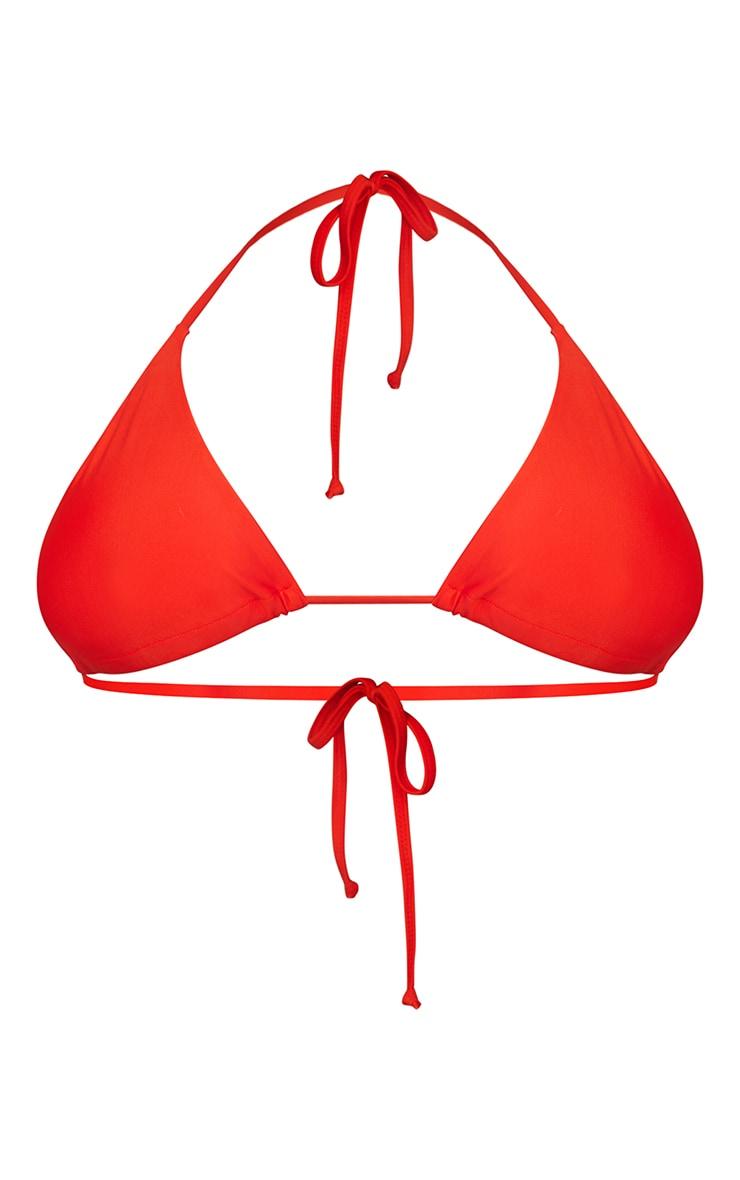 Recycled Plus Red Mix & Match Triangle Bikini Top 5