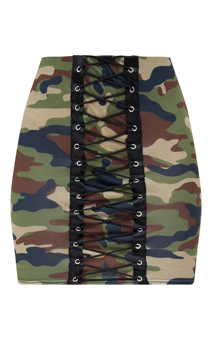 Petite Camo Lace Up Skirt 3