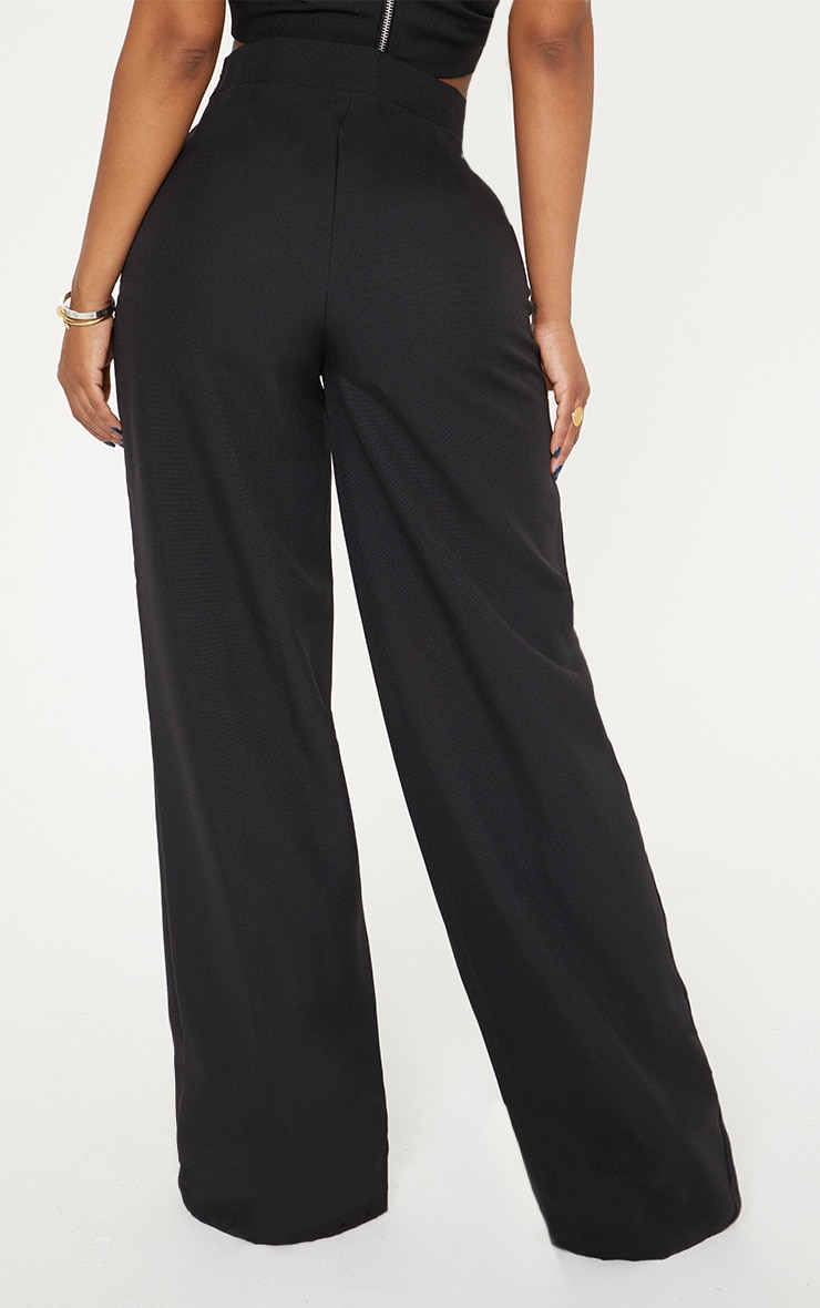 Shape - Pantalon évasé noir style cargo 4