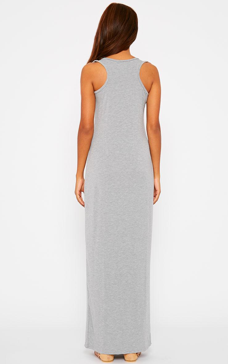 Basic Grey Jersey Maxi Dress 2