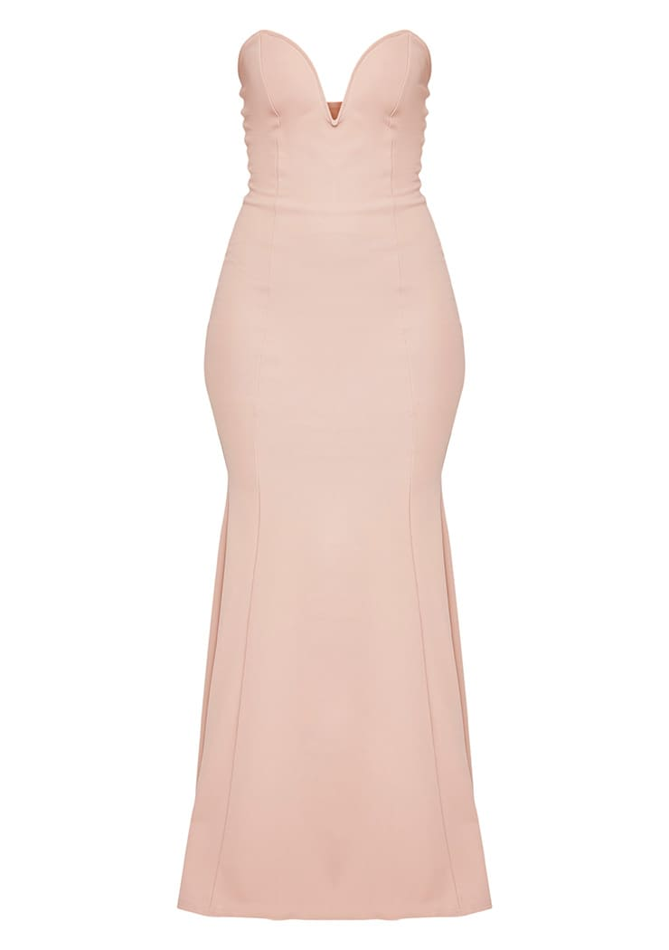 Wendie Nude Sweetheart Fishtail Maxi Dress 3