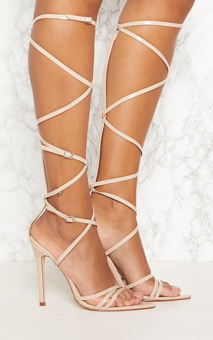 Nude Extreme Gladiator Point Heels 5