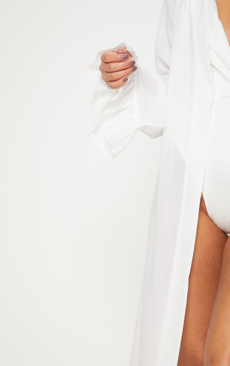 Petite White Frill Sleeve Kimono 5