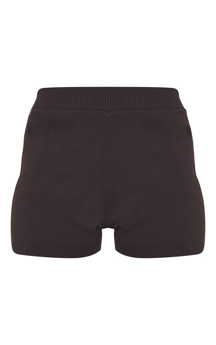 Black Knitted High Waisted Shorts 6