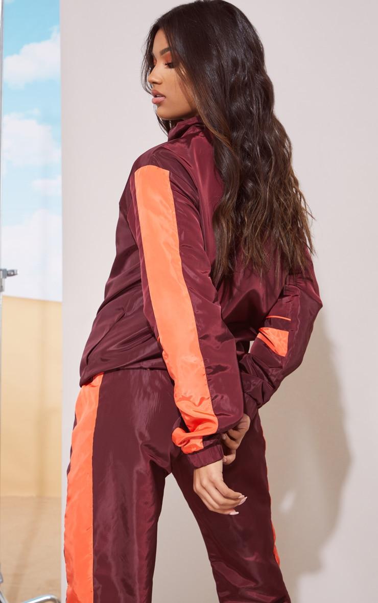 Maroon Stripe Shell Jacket 3