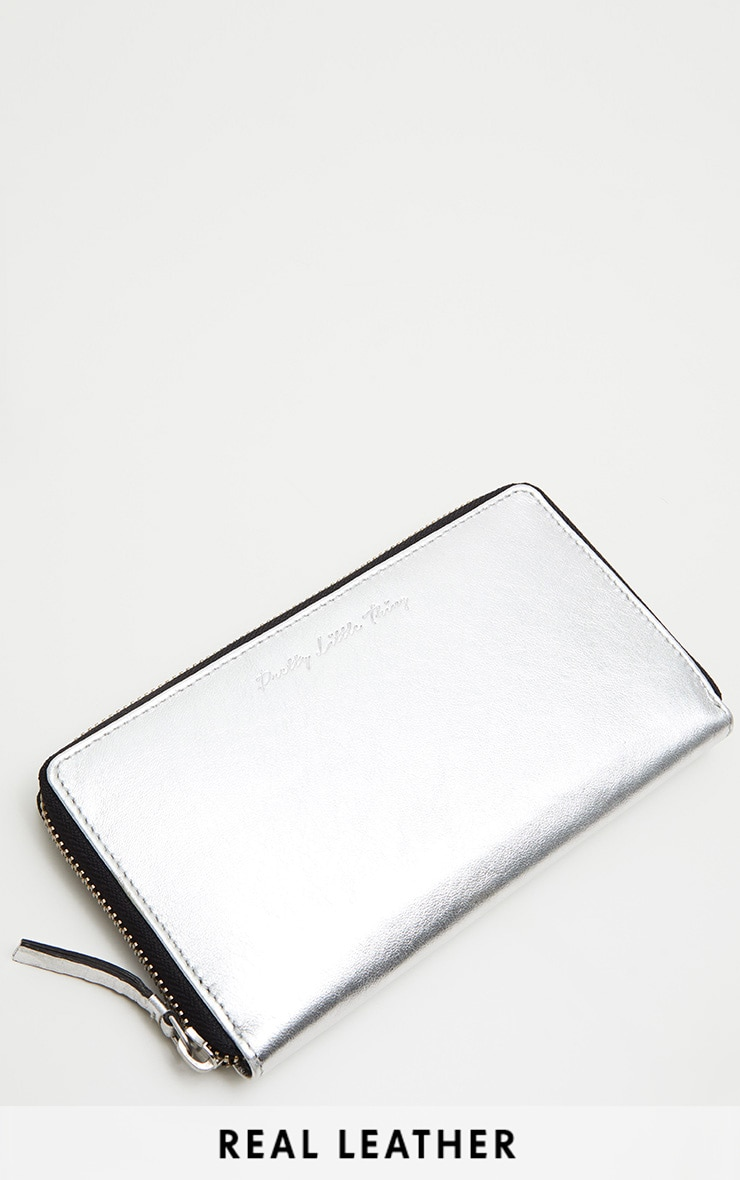 Silver LEATHER Purse 1