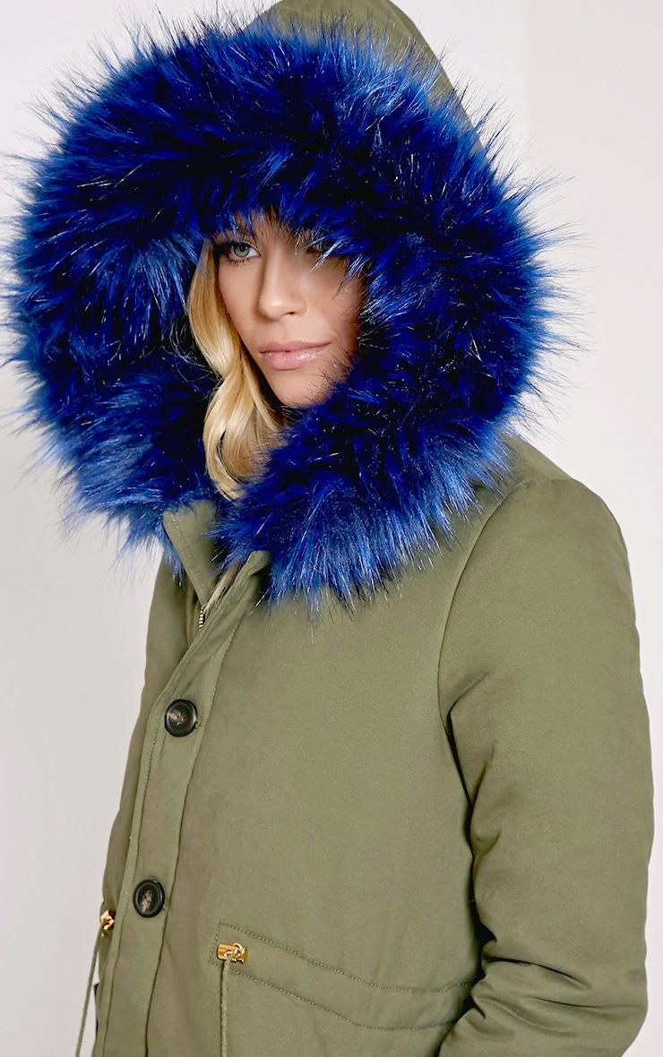 Jen Blue Fur Lined Premium Parka Coat 5