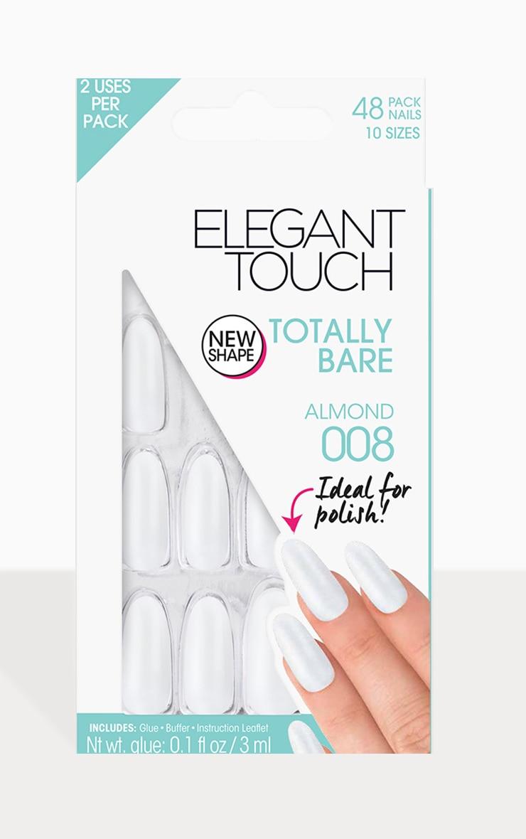 Elegant Touch Totally Bare Almond False Nails 1