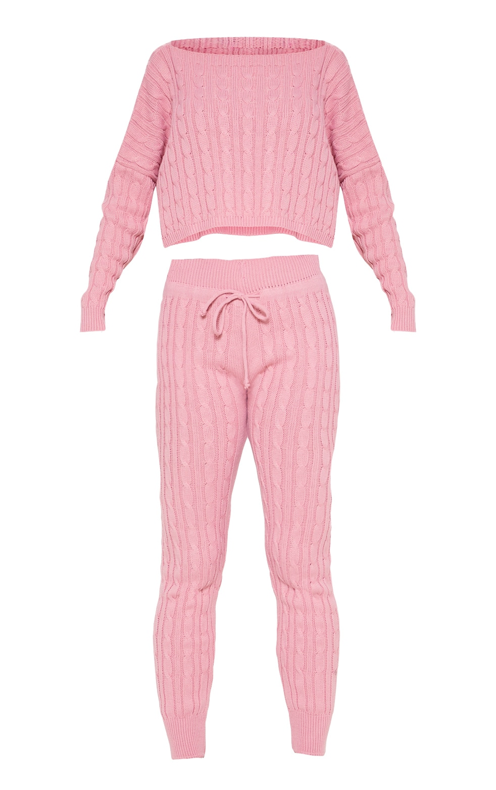 Dusty Pink Cable Knit Jumper & Legging Set 3