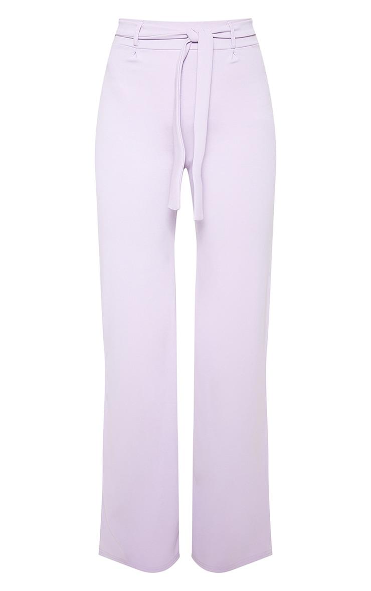 Lilac Tie Waist Wide Leg Trouser 3