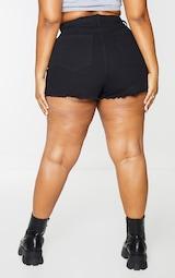 Plus Shelby High Waisted Black Denim Short 3