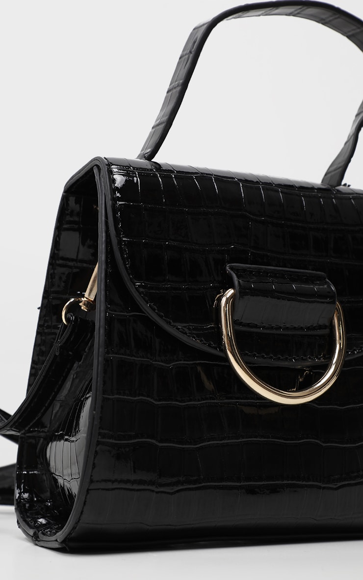 Black Ring Detail Mini Bag 4