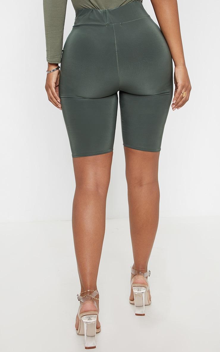 Shape Khaki Green Slinky bike Shorts 4