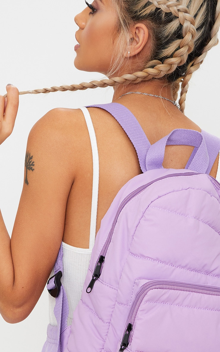 PrettyLittleThing Lilac Backpack 2