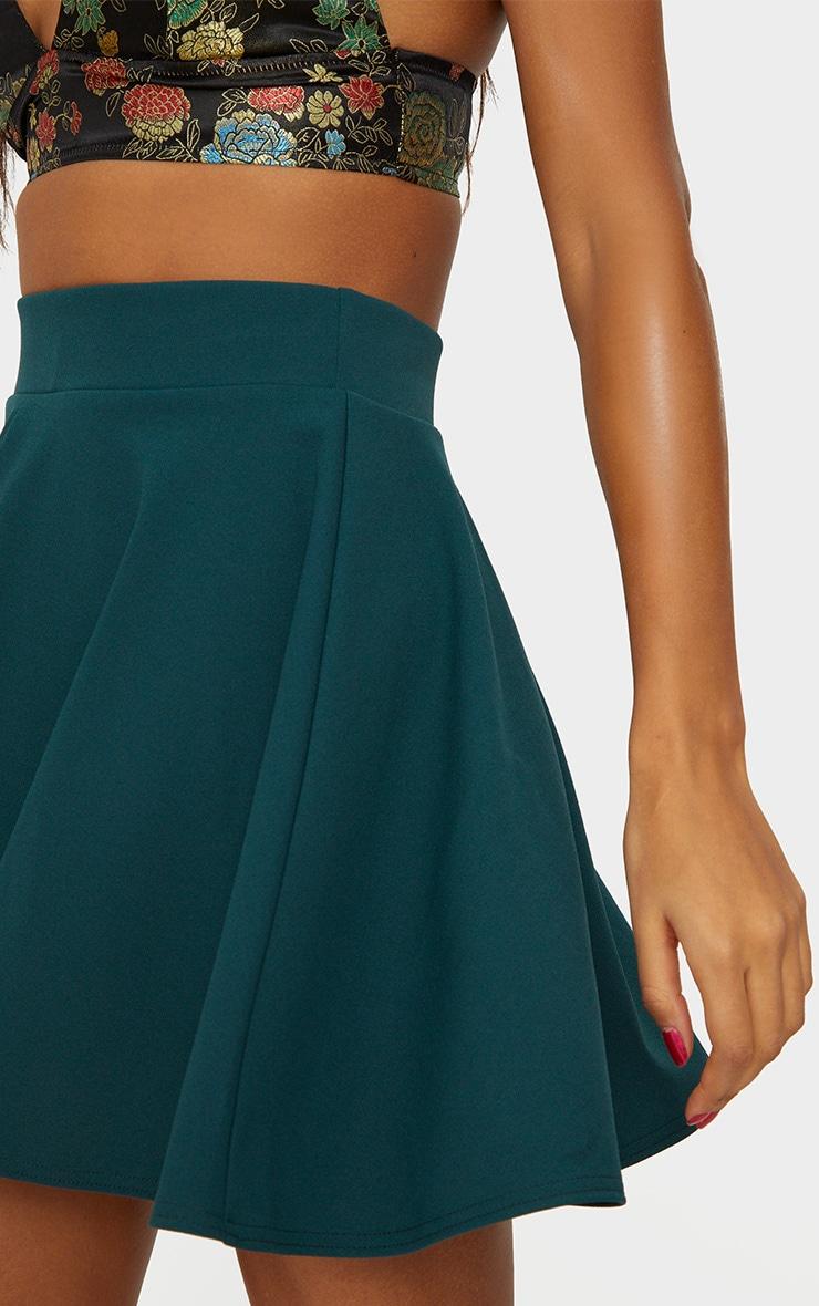 Emerald Green Skater Mini Skirt 6