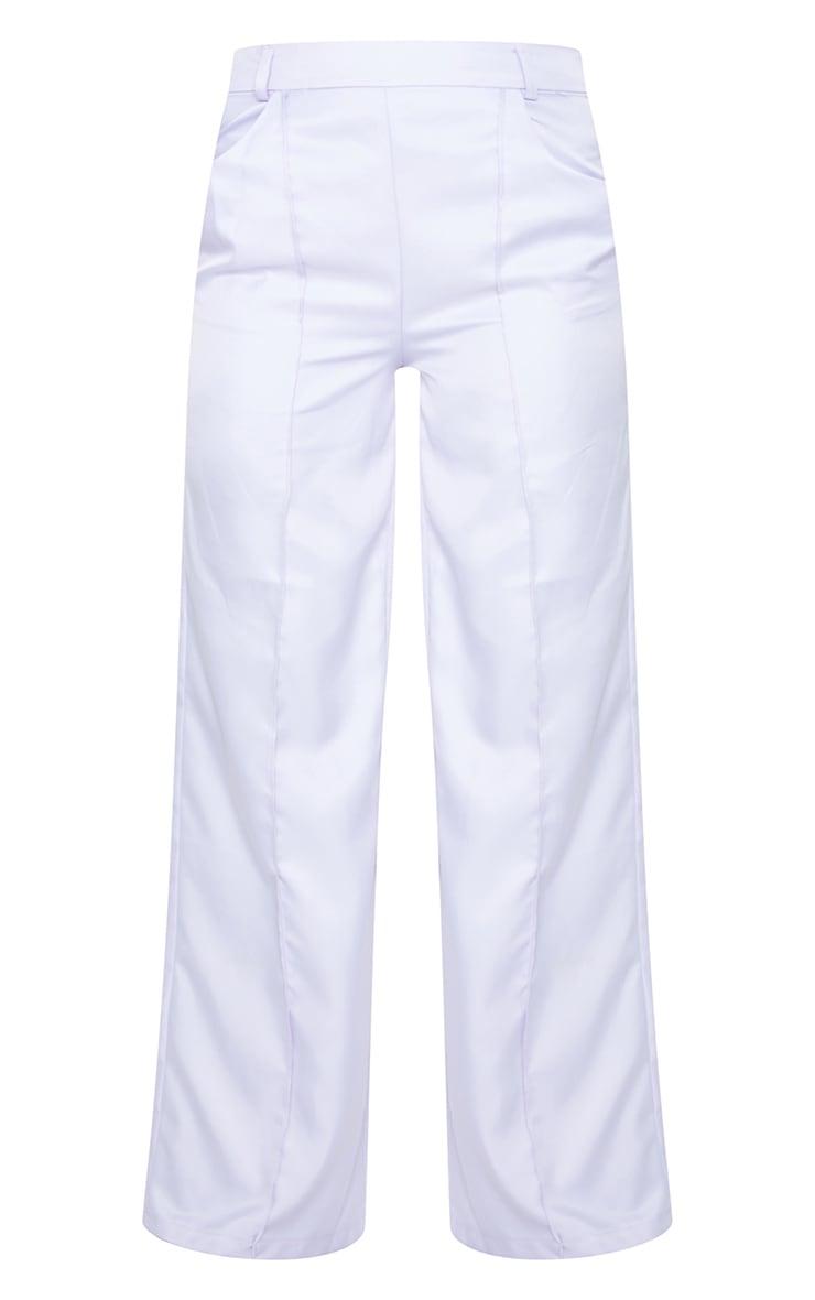 Lilac Seam Detail Wide Leg Pants 5