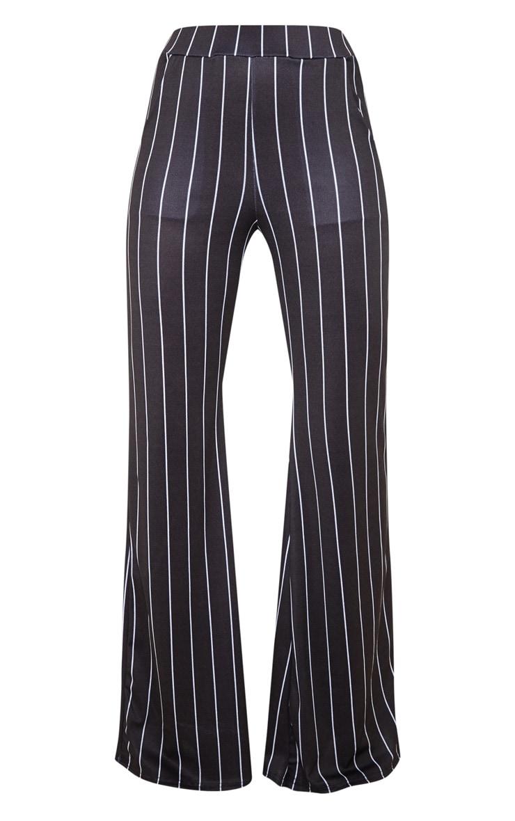 Mono Pinstripe Pocket Detail Wide Leg Pants 3