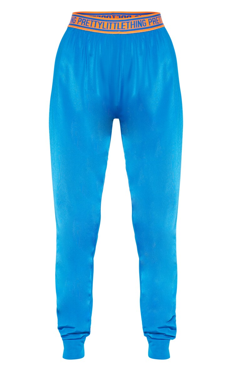 PRETTYLITTLETHING Cobalt High Waisted Joggers 3