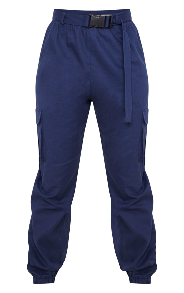 Navy Utility Buckle Belt Joggers 3