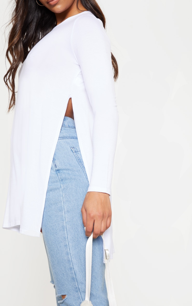Tamsyn White Long Sleeve Side Split Top 5