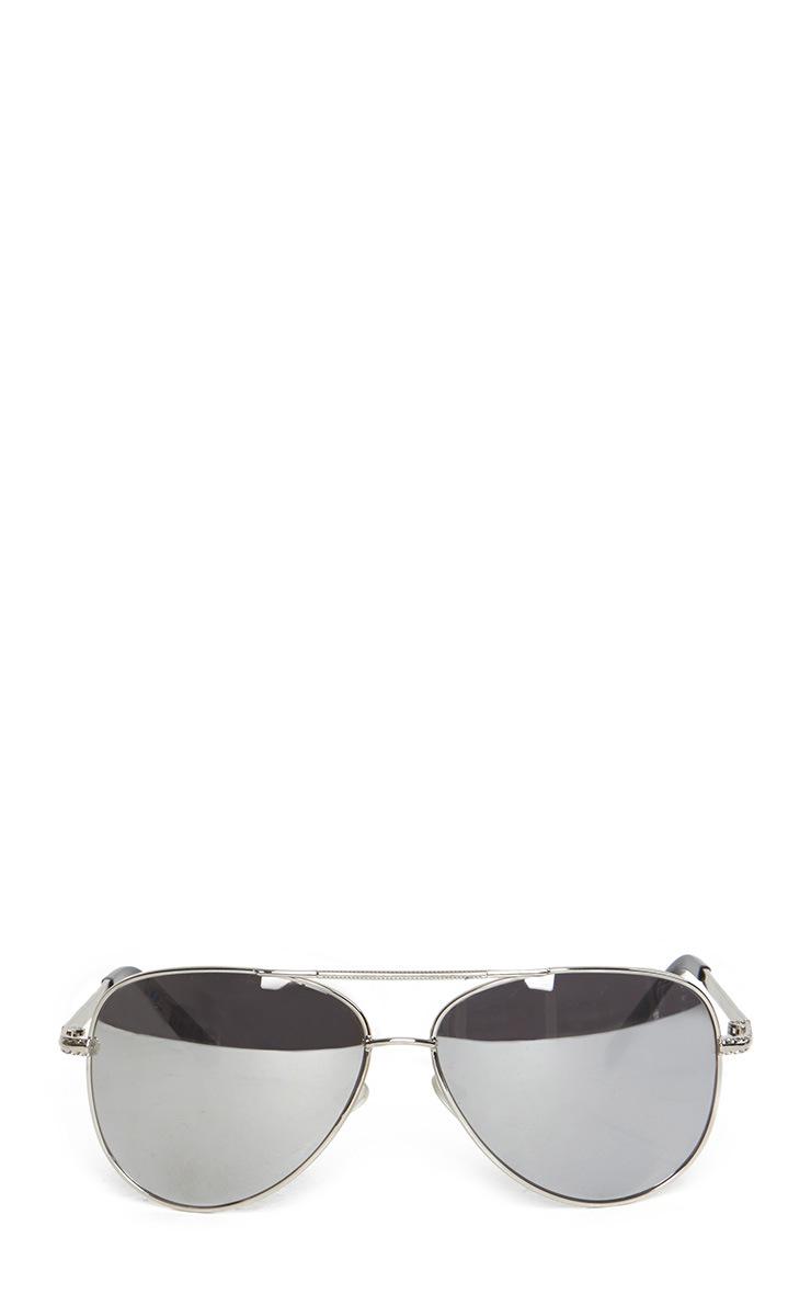 Katelin Silver Frame Grey Aviators 2