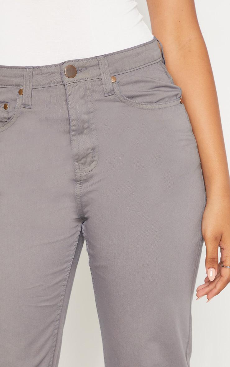 Tall Grey Denim Mom Jeans 5