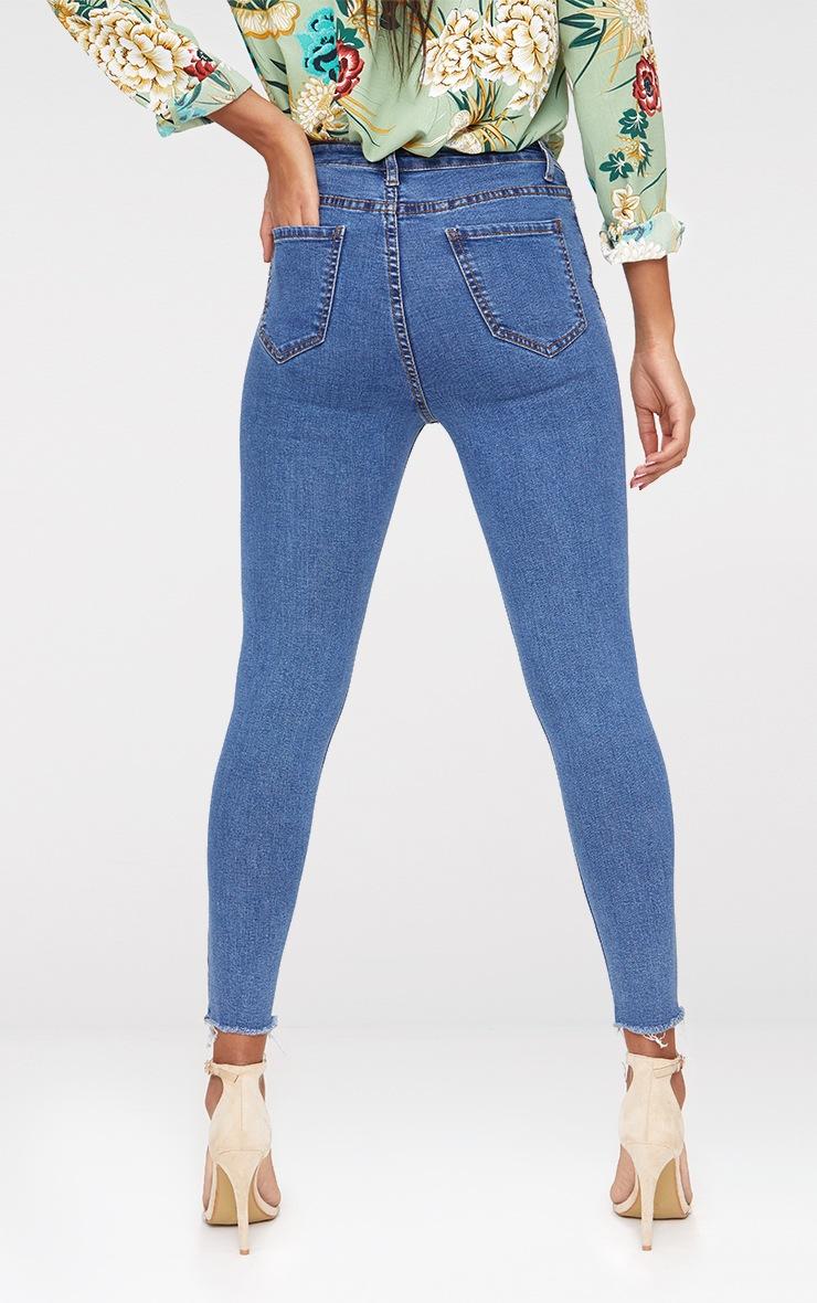 Square Knee Rip Skinny Jean  2