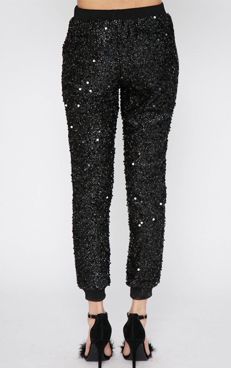 Tama Black Sequin Jogger 2