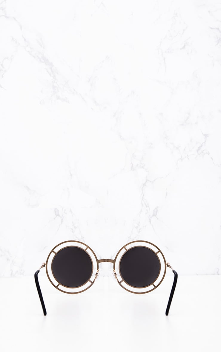 Megan Gold Cricle Frame Sunglasses 4