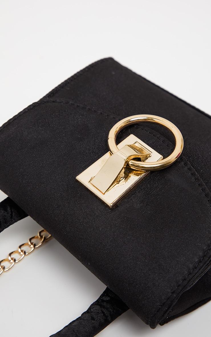 Black Single Handle Chain Belt Bag 5