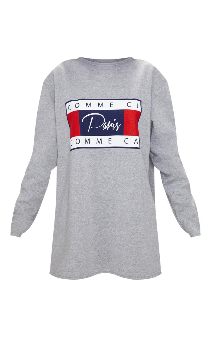 Grey Comme Ci Print Jumper Dress 3
