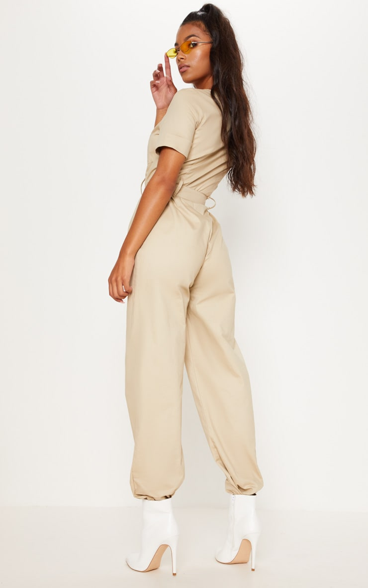 Stone Cargo Zip Up Jumpsuit 3