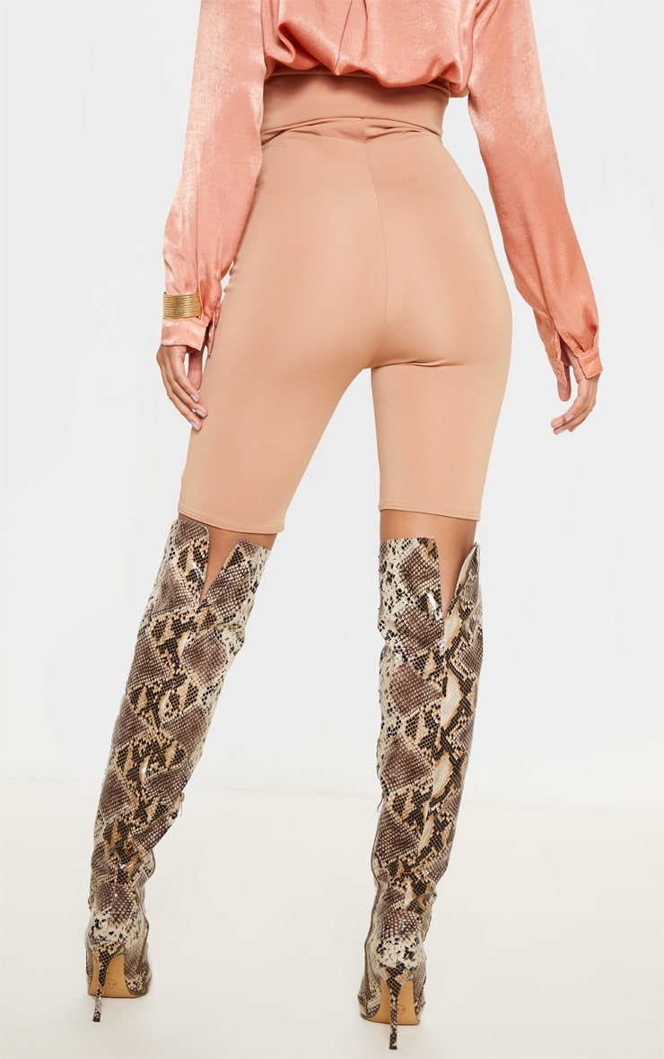 Camel High Stretch Bustier Cycle Short 4