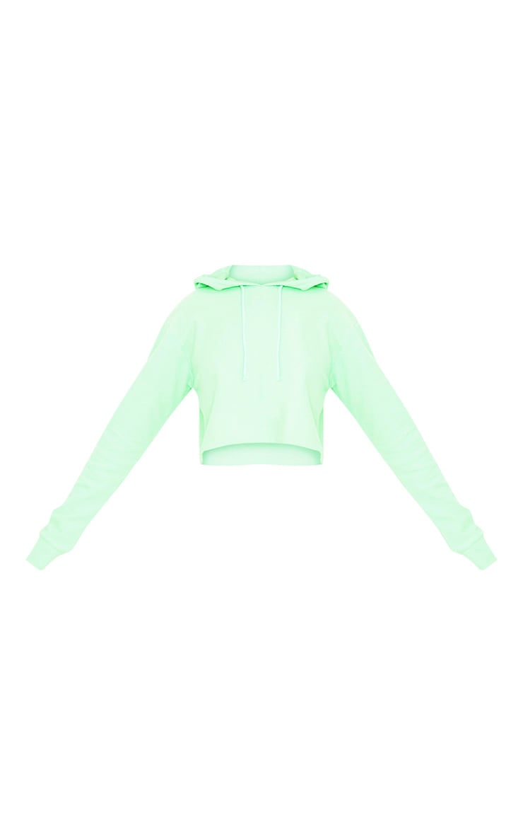 Charissa Pastel Green Inside Out Cropped Hoodie 3