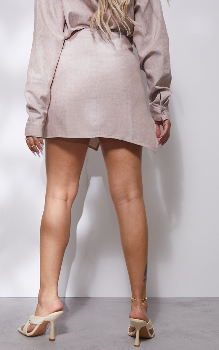 Petite Stone Ruched Bodycon Skirt 3