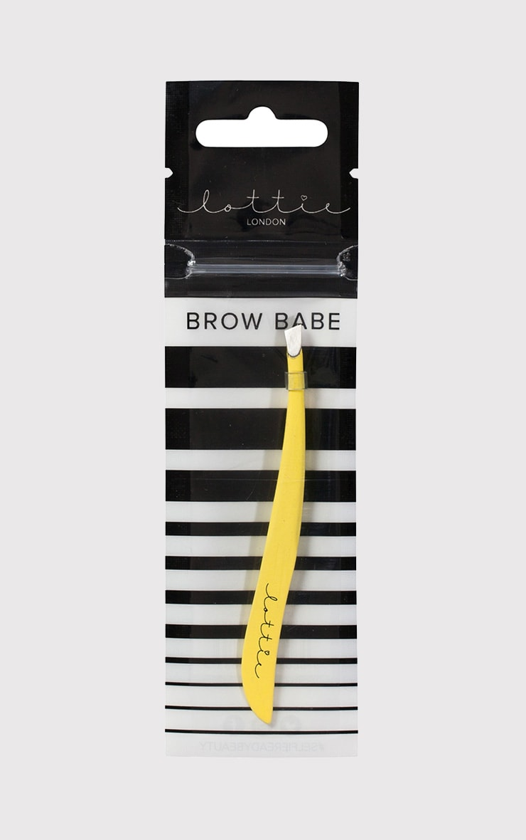 Lottie London Yellow Brow Babe Tweezers 3