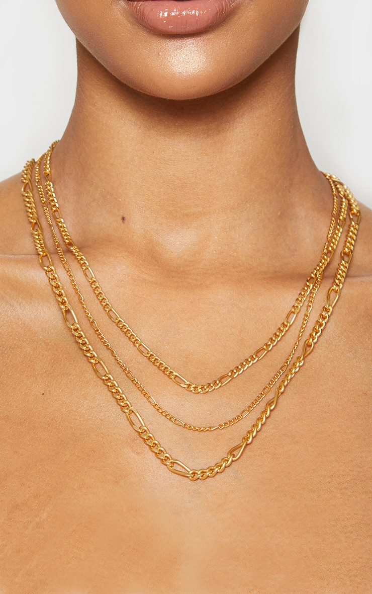 Gold Multi Layered Necklace 2