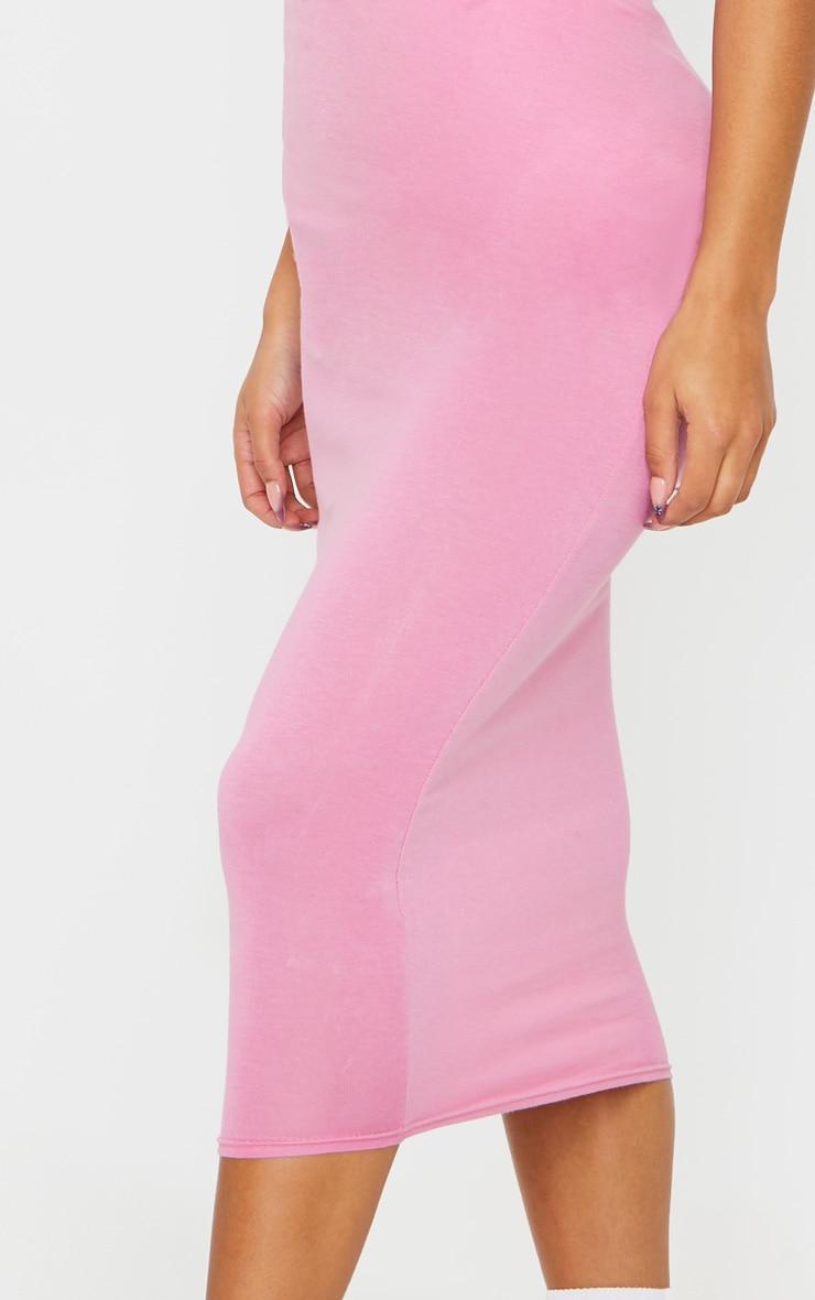 Dusty Pink Ultimate Jersey Longline Midi Skirt 4