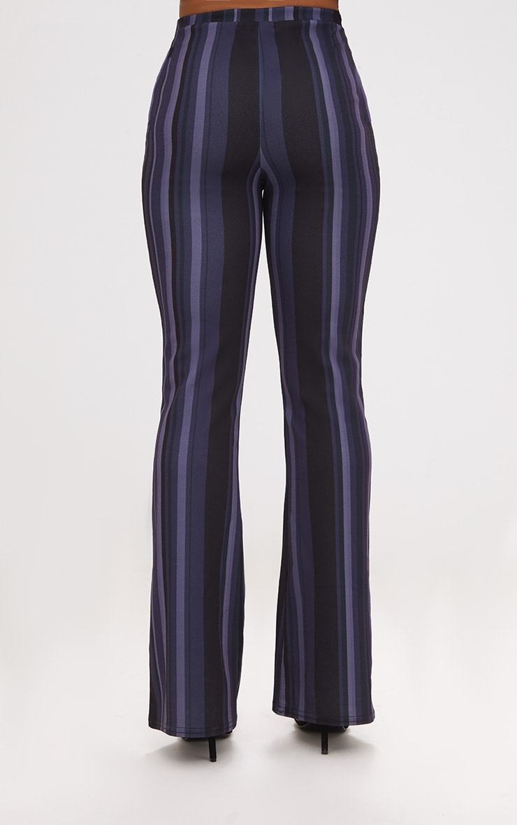 Navy Striped Wide Leg Trouser 4