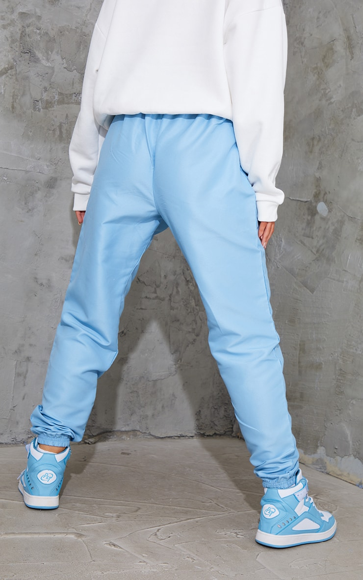 Blue Peached Zip Detail Joggers 3
