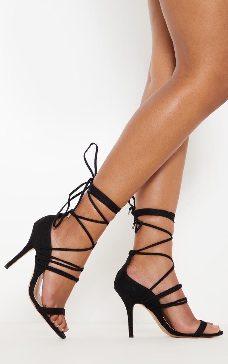 Black Strappy Heeled Sandal 2