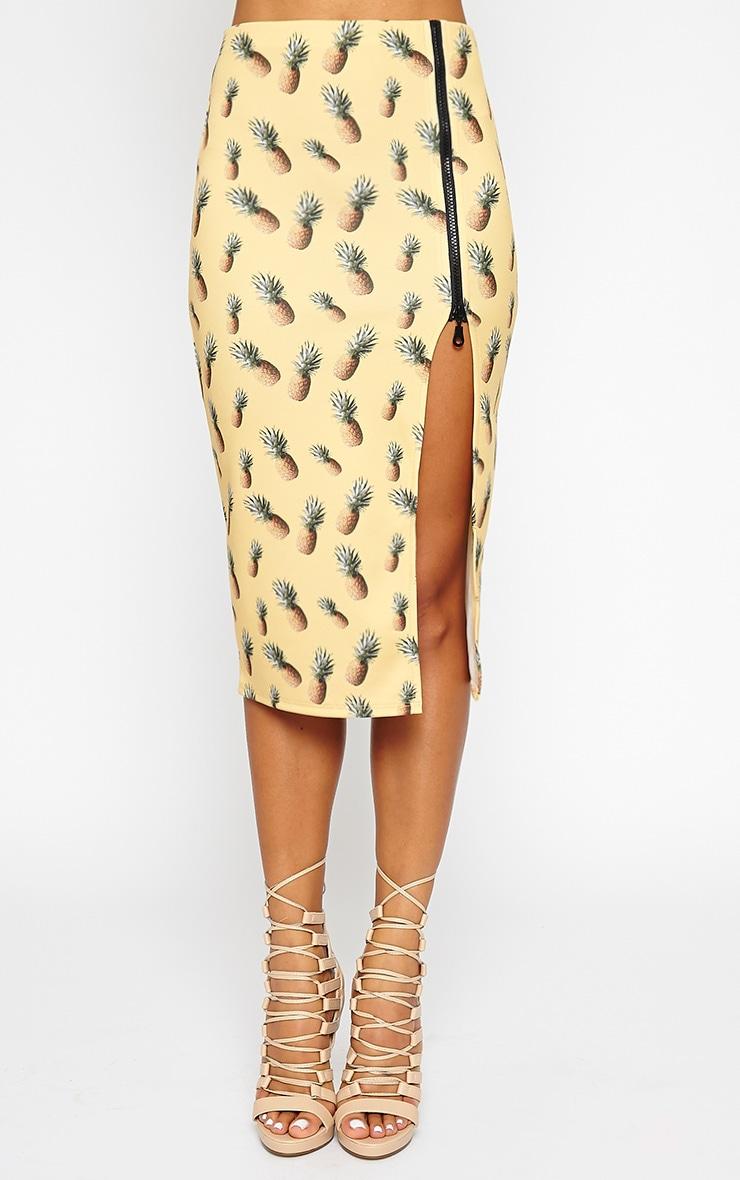 Perry Pineapple Print Midi Skirt 3