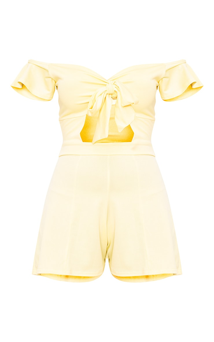 Yellow Bust Bow Playsuit  3