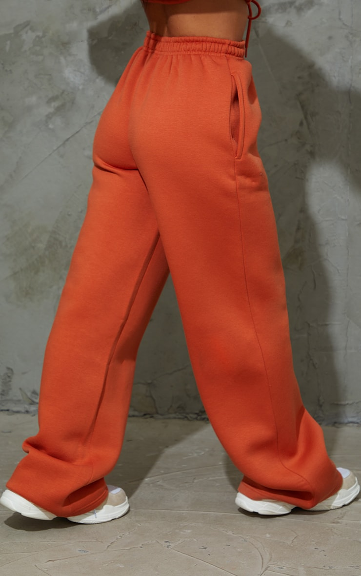 Burnt Orange Wide Leg Joggers 3
