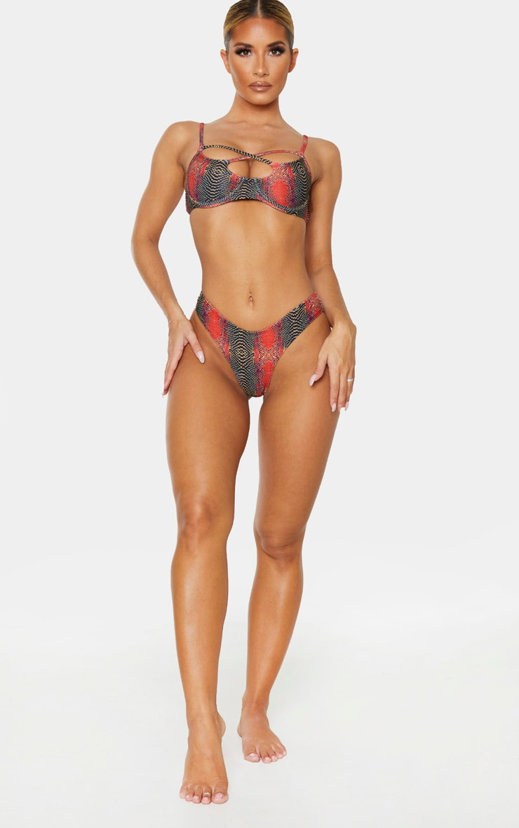 Orange Snake Brazilian Bikini Bottom 5