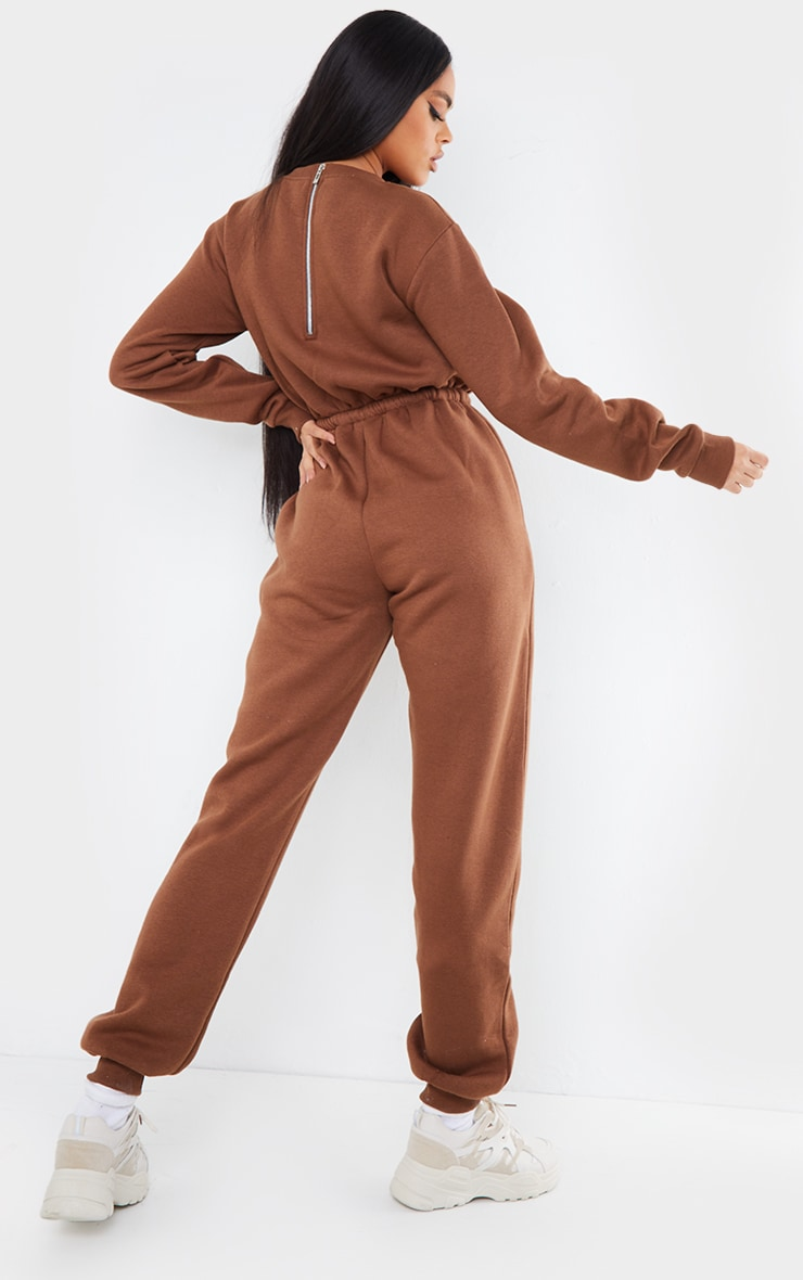 Chocolate Sweat Jumpsuit 2