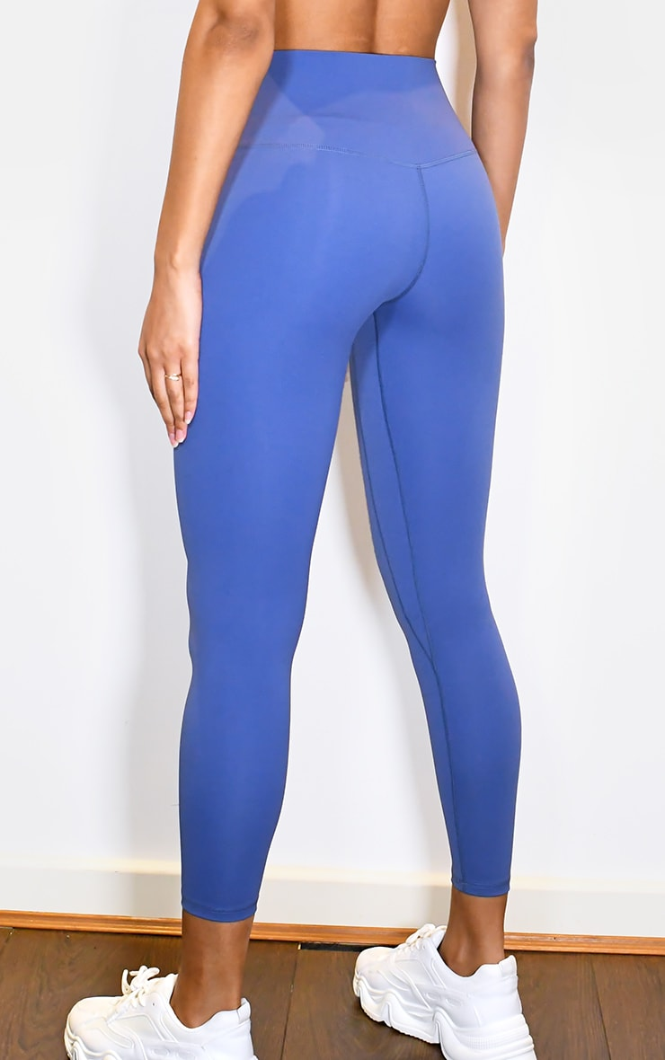 PRETTYLITTLETHING Blue Sculpt Luxe High Waist Gym Legging 3