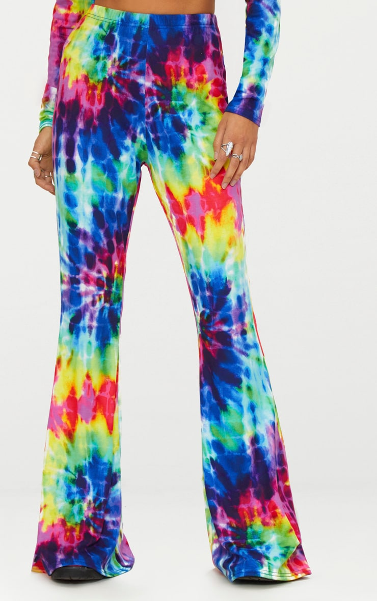 Multi Tie Dye Flared Trousers 2