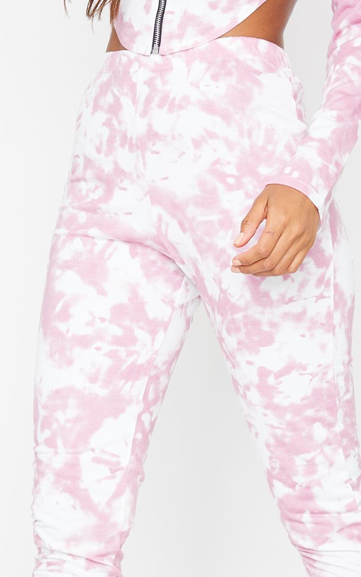 Pink Tie Dye High Waist Skinny Joggers 4