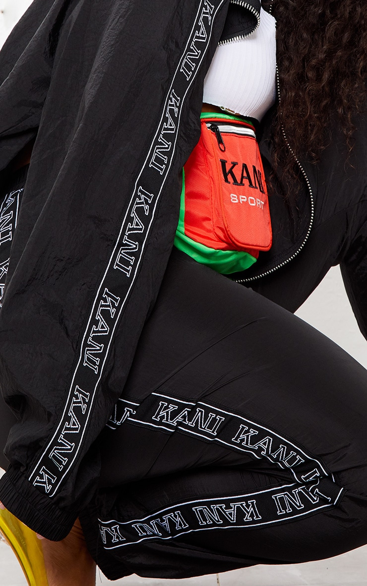 KARL KANI Black Tape Printed Shell Crop Windbreaker 7